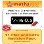 11 Plus & SATs Maths Topic Pack - Fractions, Decimals & Percentages