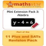 11 Plus & SATs Maths Extension Pack - Algebra