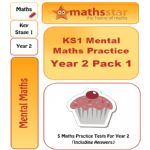 KS1 Mental Maths Practice - Year 2 Pack 1