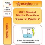 KS1 Mental Maths Practice - Year 2 Pack 7