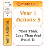 Year 1 Activity 5 – More Than, Less Than, Equal To